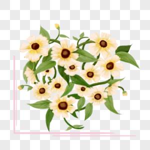 花卉白色百合花花藤装饰品图片