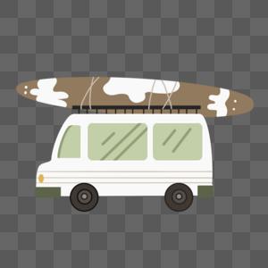 外出玩耍,带上漂浮板的小车车图片