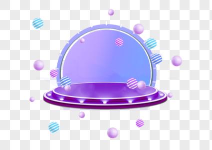 紫色淘宝背景c4d图片