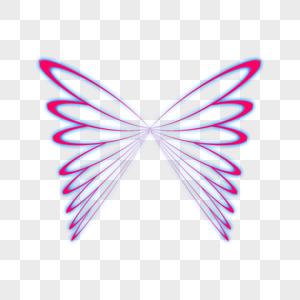 蓝紫色翅膀光效图片