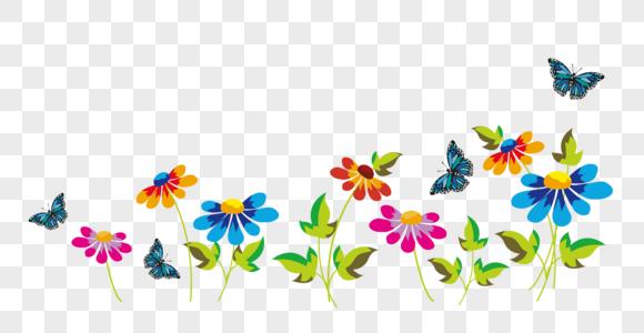 鲜花与蝴蝶图片