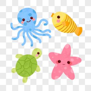 可爱海洋动物图片