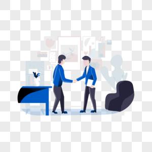 两个商务人士在握手图片