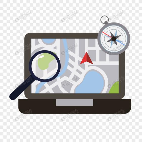 电脑上的地图图片