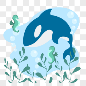 鲸鱼与海马图片