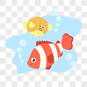 小丑鱼和河豚图片