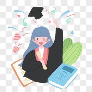 毕业了图片