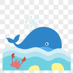 鲸鱼和螃蟹图片