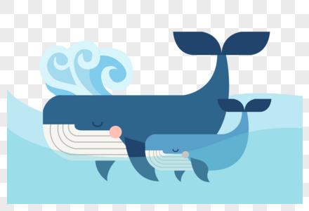 鲸鱼母子图片