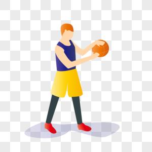 原创扁平化准备投球的少年图片