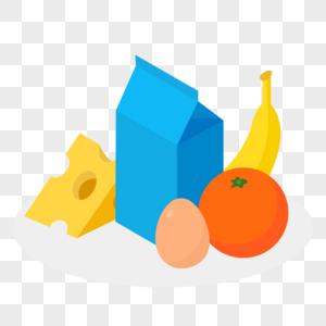 蛋奶制品和水果图片