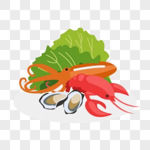 海鲜与蔬菜图片