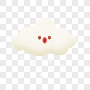 下雨的云朵图片
