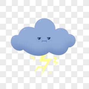 打雷的乌云图片