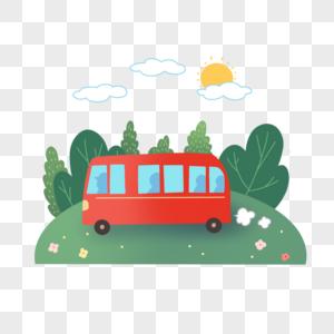 卡通大巴士图片