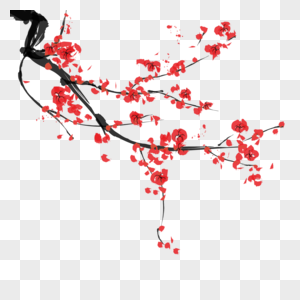 古典梅花免抠素材图片