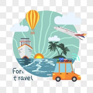 旅游主题插图图片
