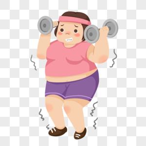健身减肥的女孩图片