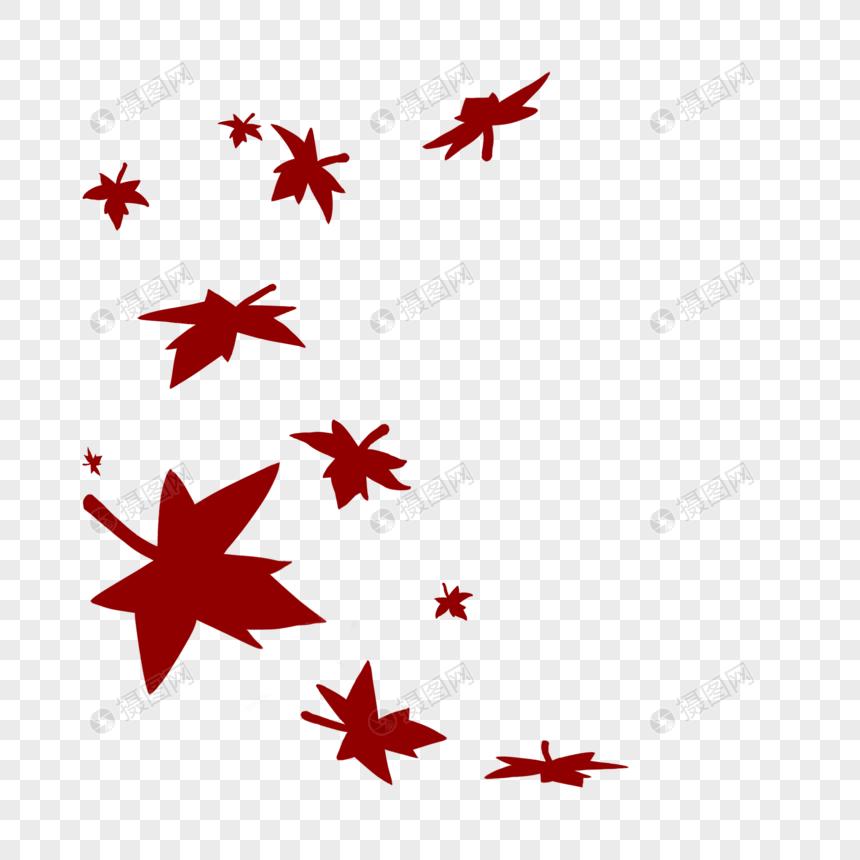 红色枫叶秋天飘落图片