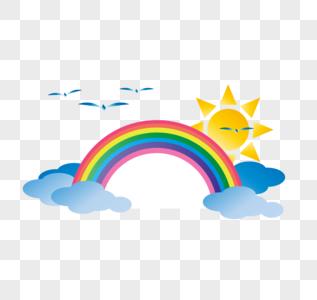大自然彩虹矢量图图片
