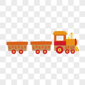 AI矢量图卡通玩具小火车图片