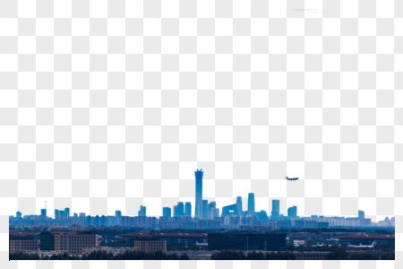 蓝天多云下的北京城市图片