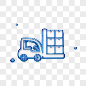 立体免抠叉车图标图片