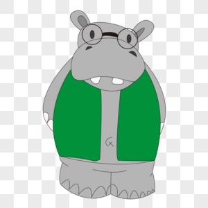 戴眼镜的动物图片