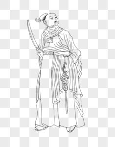 卡通古代贵族插图图片