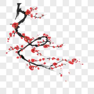 桃花树免抠_桃花免抠元素-桃花枝素材-PNG图片下载-摄图网