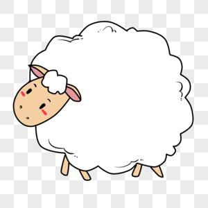 绵羊边框图片素材