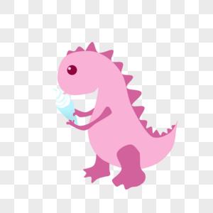 吃冰淇淋的恐龙图片