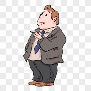 老板会议讲话漫画图片