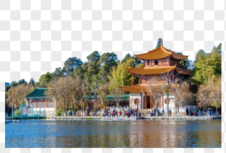 云南昆明大观公园冬日风光图片