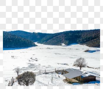 云南香格里拉冬季风光图片