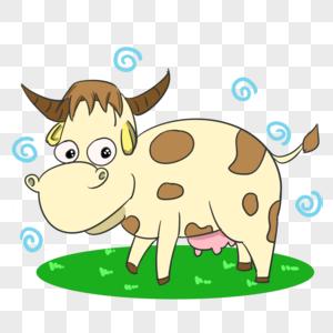可爱奶牛图片