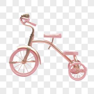 粉色单车图片