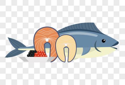 鱼肉和鱼子酱图片