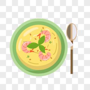 海鲜浓汤图片