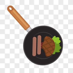 牛排和香肠图片