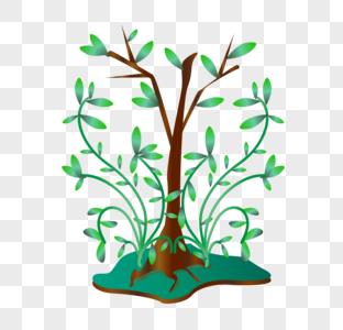 世界环境日植物元素图片