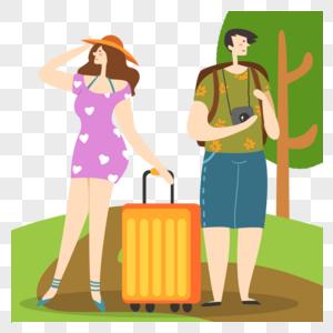 假期出游的朋友情侣图片