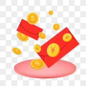 红包与金币图片