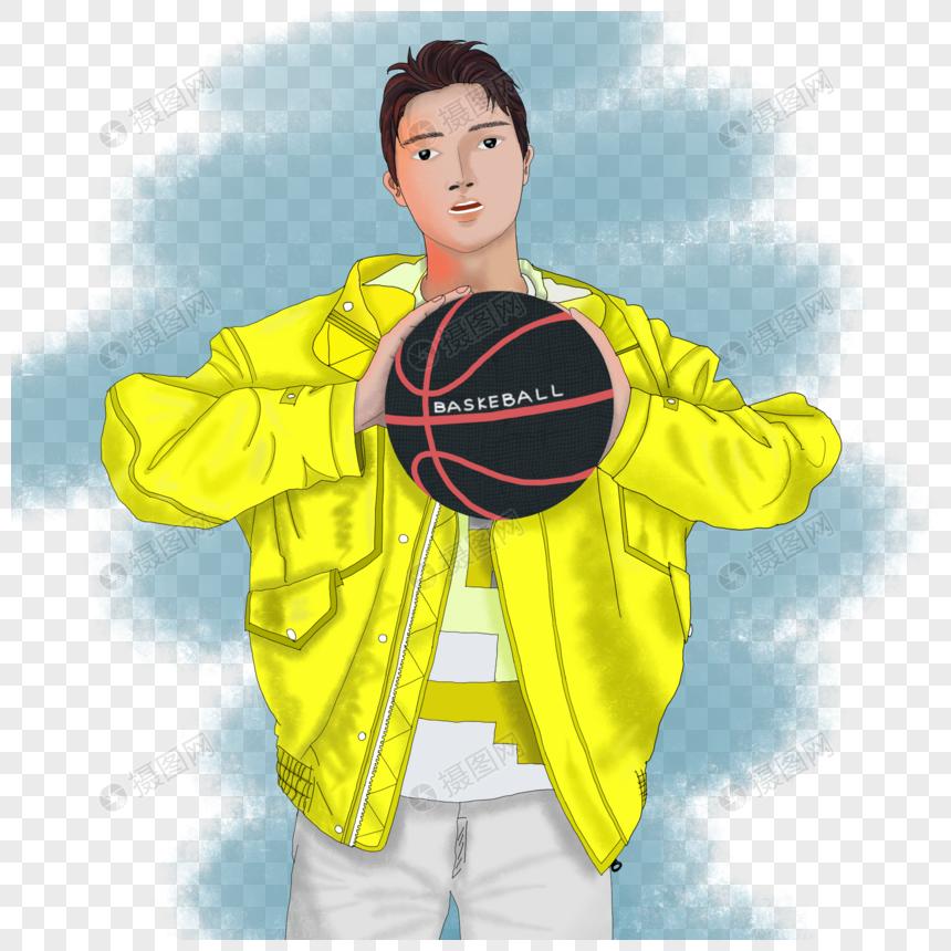 手绘奥林匹克篮球运动图片