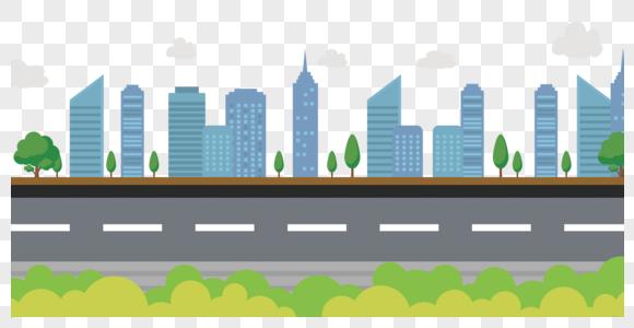 卡通城市建筑矢量图图片