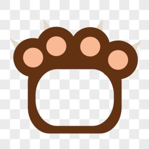 棕色熊掌边框图片