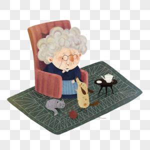老奶奶的下午茶时间图片