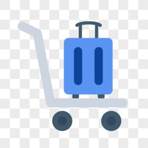 托运车行李箱图标免抠矢量插画素材图片