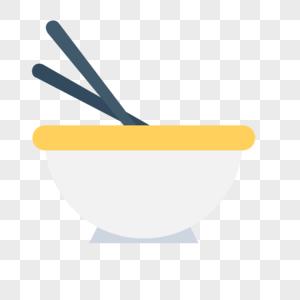 碗筷图标免抠矢量插画素材图片