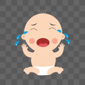 卡通大哭的婴儿图片